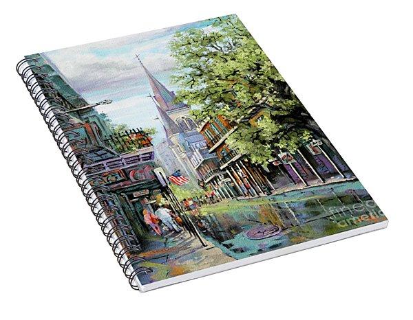 Chartres Rain Spiral Notebook