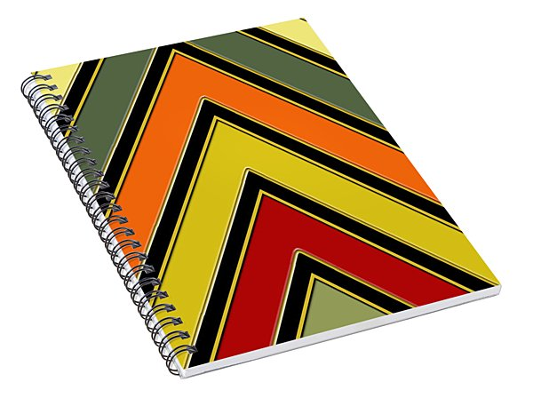 Chevrons With Color - Vertical Spiral Notebook