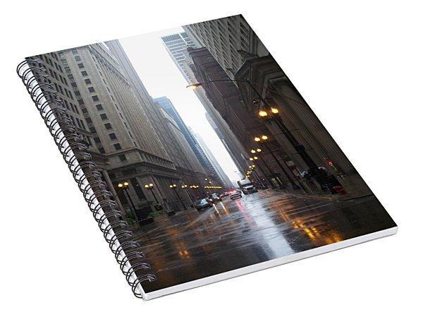 Chicago In The Rain 2 Spiral Notebook