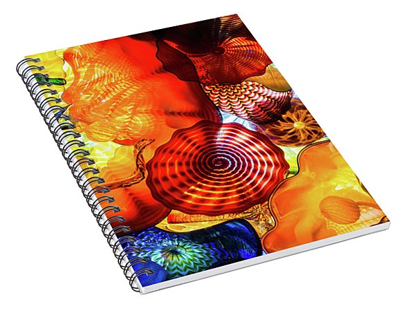 Chihuly Art Image Spiral Notebook