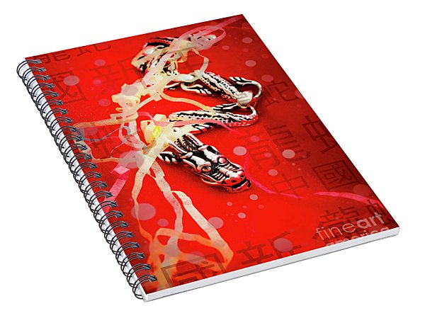 Chinese New Year Background Spiral Notebook