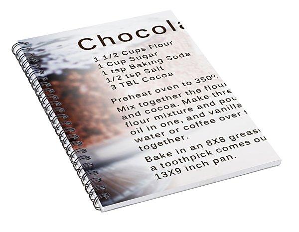 Chocolate Cake Recipe Spiral Notebook