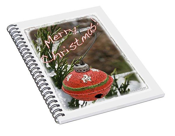 Christmas Bell Ornament Spiral Notebook