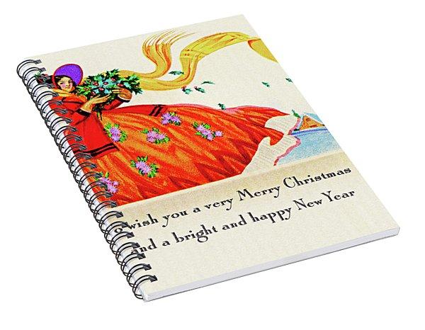 Christmas Flowers Spiral Notebook