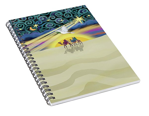 Christmas Star Spiral Notebook