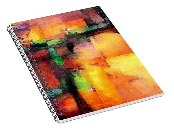 Sunset Exponential Spiral Notebook