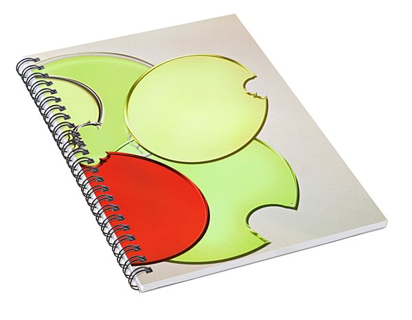 Circles Of Red, Yellow And Green Spiral Notebook