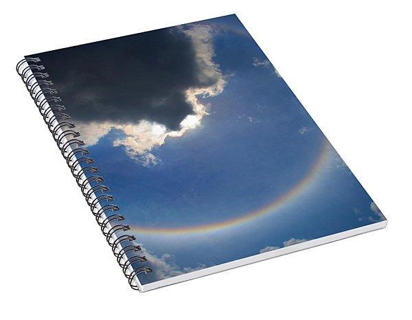 Circular Rainbow Spiral Notebook