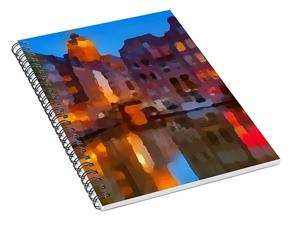 City Block 900 Soft And Dreamy In Thick Paint Spiral Notebook