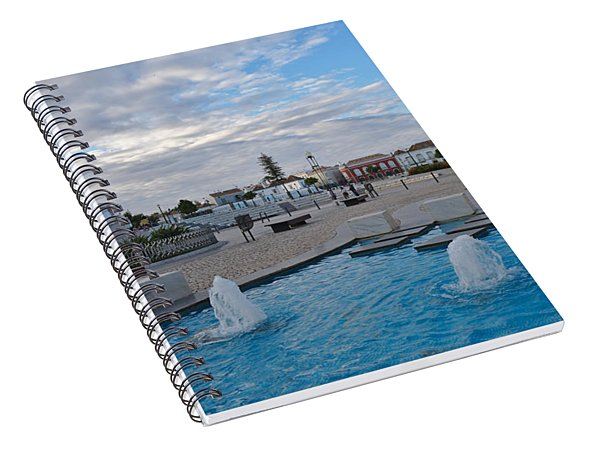 City Center Of Tavira Spiral Notebook
