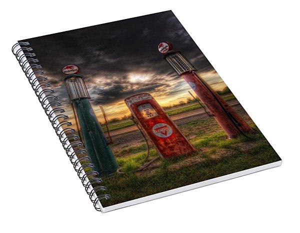 City Garage Sunset Spiral Notebook
