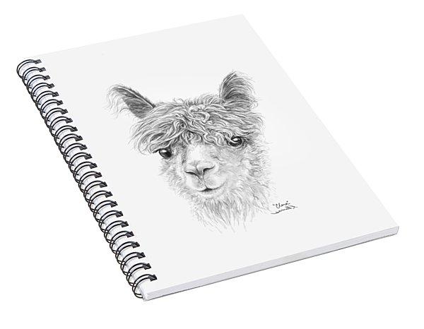 Spiral Notebook featuring the drawing Clara by K Llamas