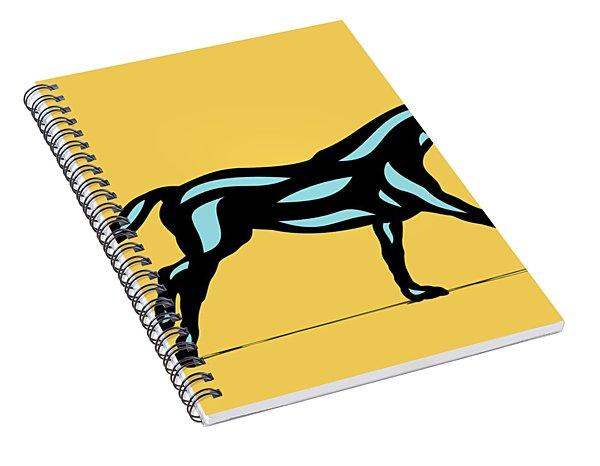 Clementine - Pop Art Horse - Black, Island Paradise Blue, Primrose Yellow Spiral Notebook