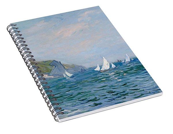 Cliffs And Sailboats At Pourville  Spiral Notebook