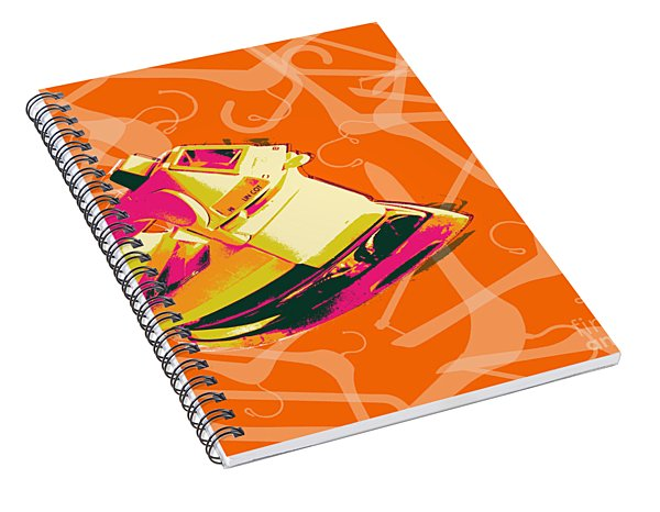 Clothes Iron Pop Art Spiral Notebook