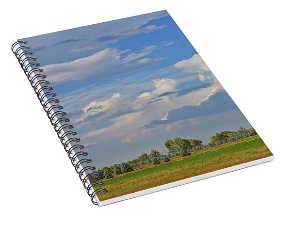 Clouds Aboive The Tree Farm Spiral Notebook