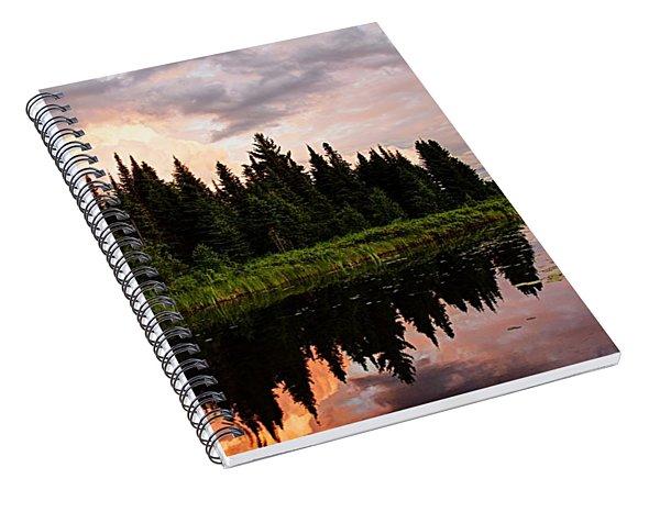 Clouds At Sunset Spiral Notebook
