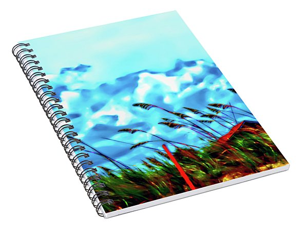 Clouds Over Vilano Beach Spiral Notebook