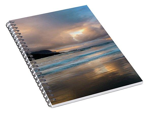 Cloudy Sunset At Hanalei Bay Spiral Notebook