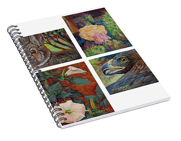 collection of 4 Desert minatures Spiral Notebook