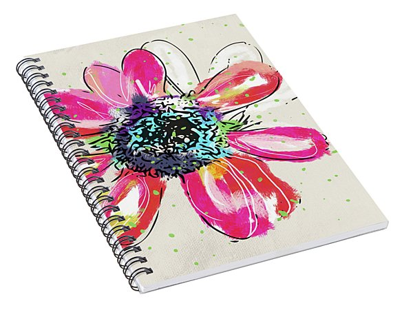 Colorful Daisy- Art By Linda Woods Spiral Notebook