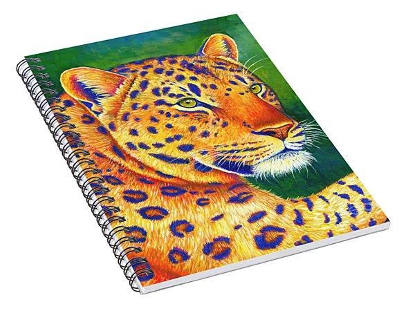 Colorful Leopard Portrait Spiral Notebook