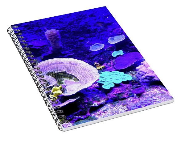 Spiral Notebook featuring the digital art Coral Art by Francesca Mackenney
