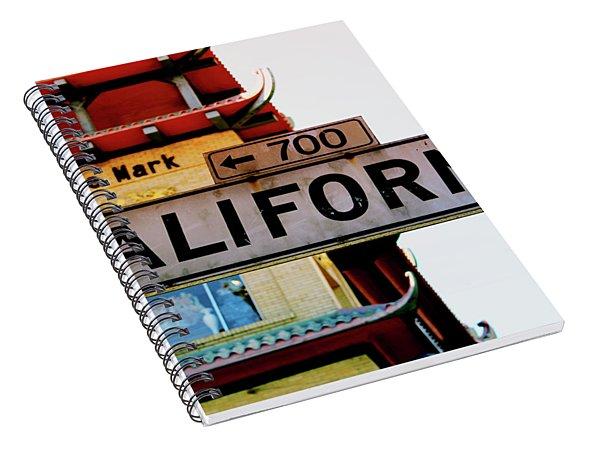 Corner Of California- Art By Linda Woods Spiral Notebook