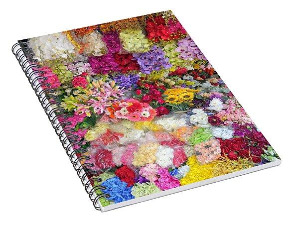Country Flower Garden Colourful Design Spiral Notebook