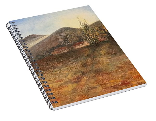 Spiral Notebook featuring the pastel Country Sunset by Norma Duch