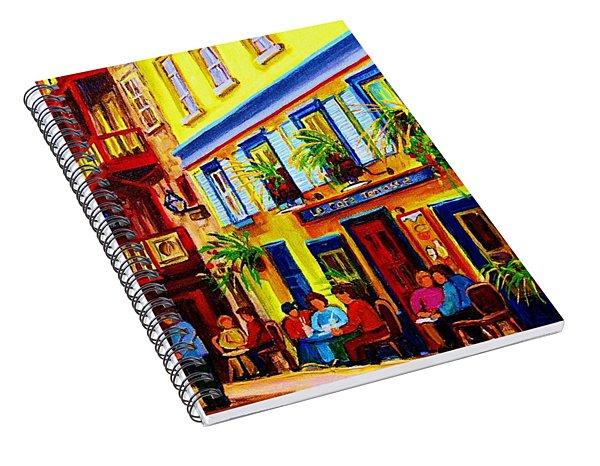 Courtyard Cafes Spiral Notebook