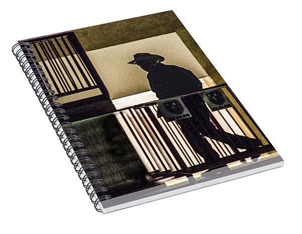 Cowboy Walking Spiral Notebook