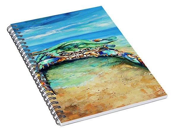 Crabby At The Beach Spiral Notebook