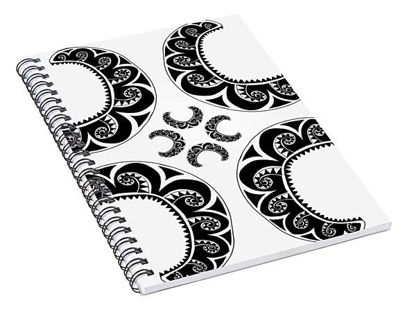 Cross Maori Style Spiral Notebook