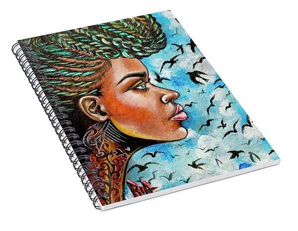 Crowned Royal Spiral Notebook