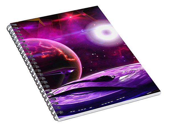 Cruising By The Super Nova Spiral Notebook