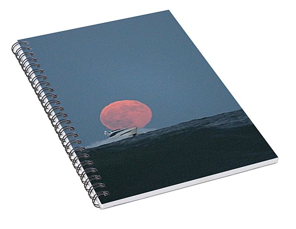 Cruising On A Wave During Harvest Moon Spiral Notebook