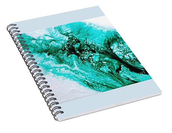 Crystal Wave2 Spiral Notebook