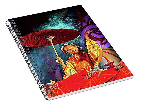 Cultural Parasol Dance Spiral Notebook