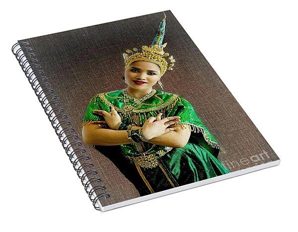 Cultural Siam Dancing Girl Spiral Notebook