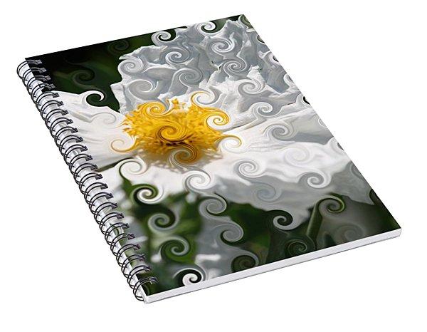 Curlicue Fantasy Bloom Spiral Notebook