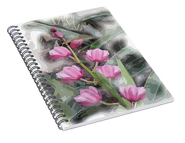 Cymbidium Spiral Notebook