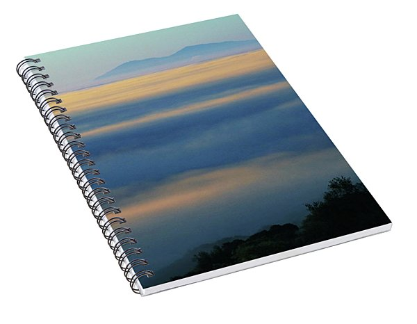D8b6320 Mt. Diablo And Fog From Sonoma Mountain Ca Spiral Notebook