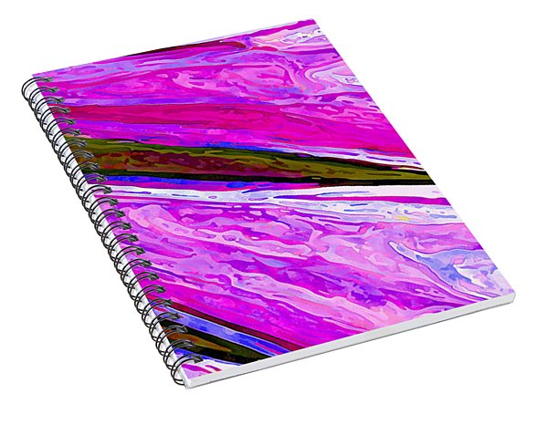 Daisy Petal Abstract 1 Spiral Notebook