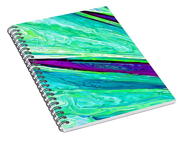 Daisy Petal Abstract 2 Spiral Notebook