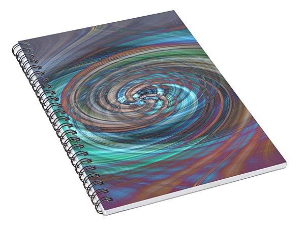 Dark Swirls Spiral Notebook