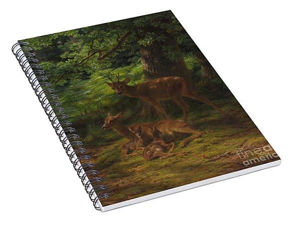 Deer In Repose Spiral Notebook