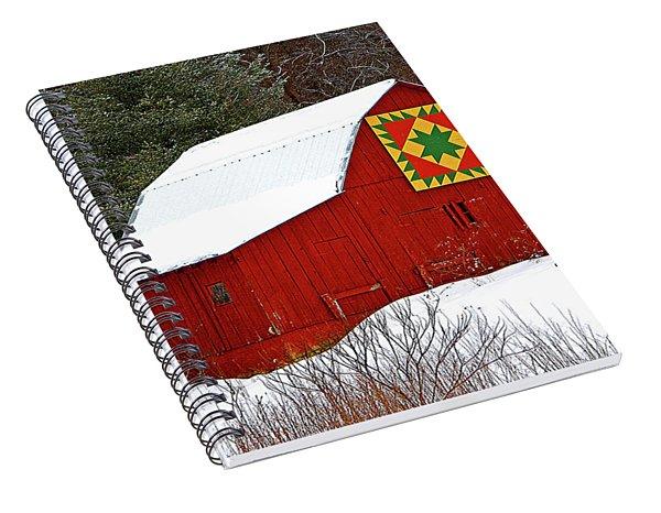 Delectable Mountains Snow Spiral Notebook