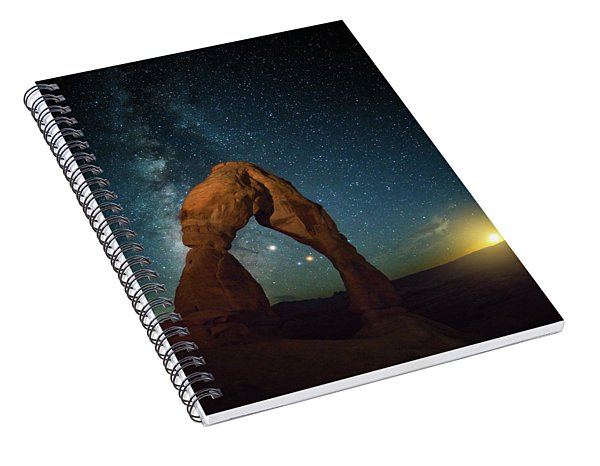 Delicate Arch Moonset Spiral Notebook
