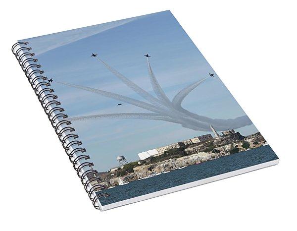 Delta Breakout Over Alcatraz Island Spiral Notebook